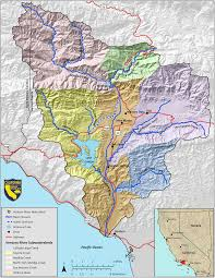Santa Barbara California Map Ventura River Study Santa Barbara And Ventura Counties