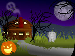 clipart halloween haunted house