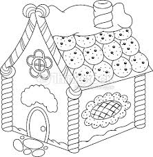 gingerbread house coloring page vector art thinkstock