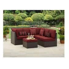 Piece Outdoor Wicker Sectional Sofa Patio Furniture Set  Bobbie - Outdoor patio furniture sets