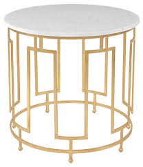White Accent Table by Amh8311a Safavieh