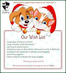 the christmas wish list cara welfare philippines archive cara s rescues