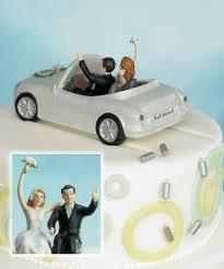 wedding in car wedding in car cake topper