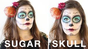 simple halloween sugar skull day of the dead makeup tutorial