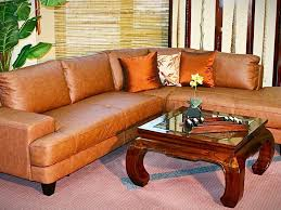 charming tan leather living room set furniture loft living room