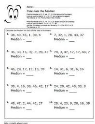 5 worksheets for calculating mean averages worksheets math and