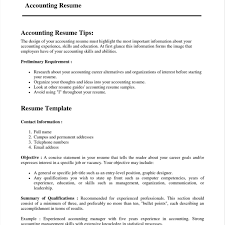resume sle with career summary resume exles accounting objectives for superior mutual junior
