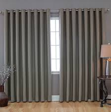 modern light grey grommet top curtain for living room idea