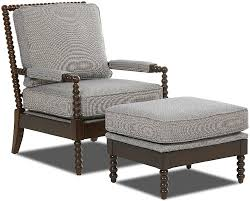 Accent Chair And Ottoman Set Klaussner Chairs And Accents Rocco Accent Chair And Ottoman Set