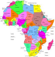 mapa de africa de áfrica político región país