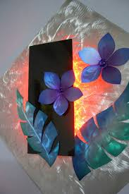Ribbon Metal Wall Decor Wilmos Kovacs Color Changing Rgb Led Lights Metal Wall Sculpture