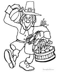 happy thanksgiving coloring book page 015