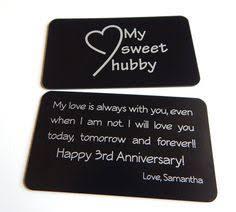 third anniversary gift ideas anniversary gift to my husband gift from to husband custom