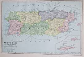 Map Of Puerto Rico Puerto Rico Map 1902 La Chuleta Congelá U0027