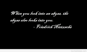 wedding quotes nietzsche inspirational abyss quotes and sayings