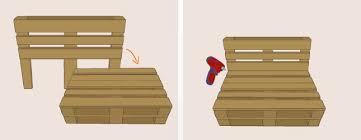 fabrication canap en palette fabriquer fauteuil en palette maison design bahbe com