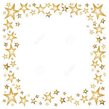 christmas decoration with golden stars and shooting stars royalty