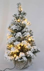 60cm battery pre lit snow white fir tree