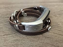 multi strap bracelet images Multi wrap around brown leather bracelet for fitbit alta alta hr