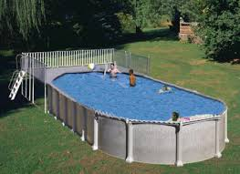 oval above ground pool with end deck u2013 above ground pools experts