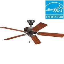 ceiling fans antique bronze progress lighting airpro builder 52 in indoor antique bronze