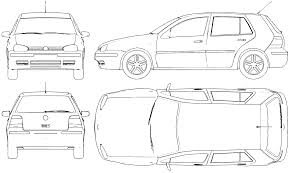 volkswagen hatchback 1999 1999 volkswagen golf mk iii hatchback blueprints free outlines