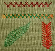 Fish Bone Stitch Embroidery Tutorials Herringbone Stitch Textile Dreams Fibery Up