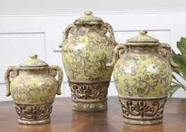 good french country kitchen canisters set 3 old world tuscan