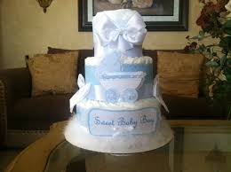 Elegant Baby Shower by Baby Boy Diaper Cake Elegant Baby Blue Diaper Cake Boy Baby