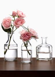 Glass Vases Australia Clear Glass Bottle Bud Vases Create Quick And Easy Centerpieces