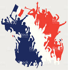 French Map Happy French Fans In Shape Of France Map Stock Vector Art
