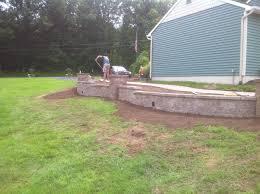Backyard Firepit by Interior Decorative Cinder Blocks Retaining Wall Backyard Fire
