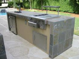 outdoor contemporary outdoor kitchen island with meat grinder and