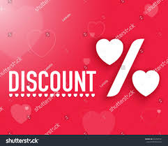 valentines sales valentines day discount sales vector stock vector 243541501