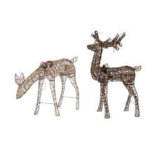 home accents holiday 34 in grapevine grazing doe with animation