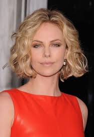 hair cuts to increase curl and volume charlize theron short blonde curly bob hairstyle sexy curls