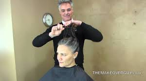 long hair cut super short and reveal the gray by christopher