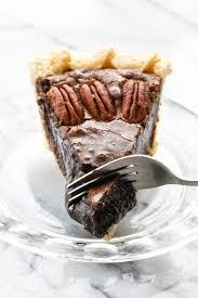 chocolate fudge pecan pie part pecan part fudge this is the