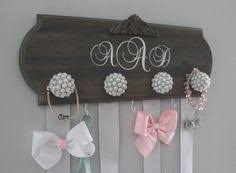 hair bow holder bow holder monogram hair bow holder bow organizer girl nursery
