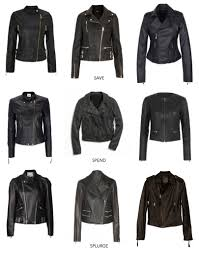 closet staple black leather jacket