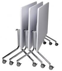 Folding Table With Wheels Flip Folding Table On Wheels