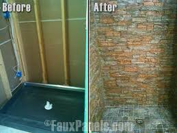 faux stone bathroom showers are a great way to enhance your home