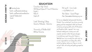 exle of a student resume spencer animation student animated cv