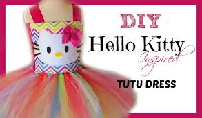 d i y hello kitty birthday tutu dress tutorial youtube