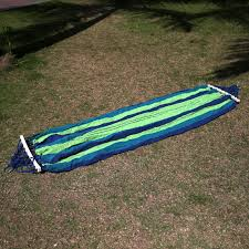 200 x 80cm canvas fabric double outdoor hammocks spreader bar