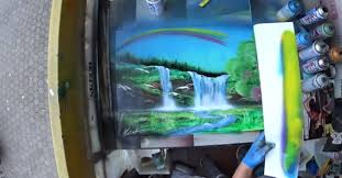 Spray Paint Artist - a heavenly valley spray paint art by sketch painting art