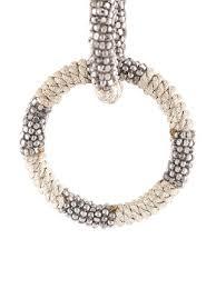 hoop la earrings oscar de la renta beaded hoop clip on earrings 435 buy