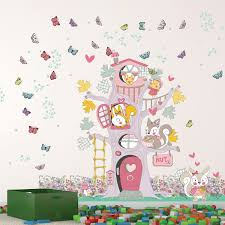 wall stickers uk wall art stickers kitchen wall stickers c2ww002108 spring happy tree house
