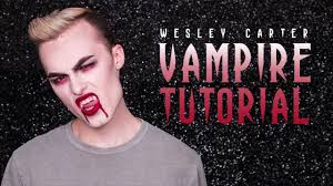 Vampire Halloween Makeup Tutorial Vampire Halloween Makeup Tutorial With Wesley Carter Youtube