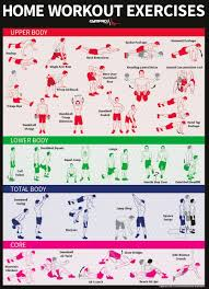 dumbbell and bodyweight home workout exercise poster